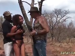 cute african amulet teen gets rough big blarney bukkake group banged at our wild sex safari