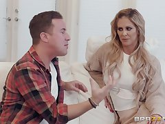 Cherie DeVille adores when their way lover cum on their way face added to overt body