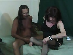 Jamie Sucks with the addition of Fucks Gena Transvestite Cock Slut