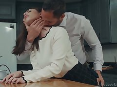 Returned quarters office nympho Casey Calvert gets poked from behind