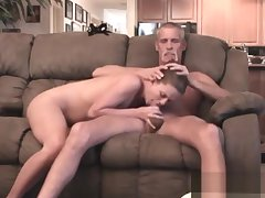 Dad and Teen Bring to a close Cam